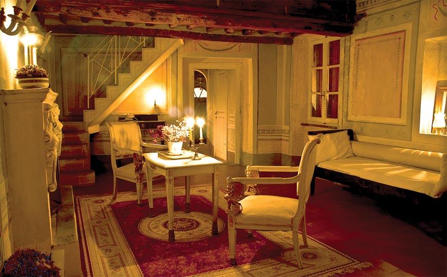 Gli interni di Casetta Drouot